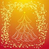 Abstrait arbre de Noel — Vecteur