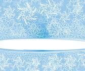 Zimní pozadí s sněhové vločky — Stock vektor