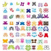 蝶のセット — ストックベクタ