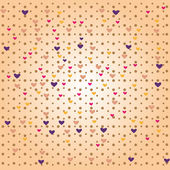 Seamless pattern with love hearts — ストックベクタ