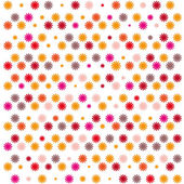Seamless pattern with colorful flowers — Stock Vector