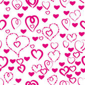Seamless pattern with love hearts — Stock Vector