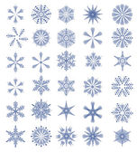 Set with snowflakes — Stockvektor