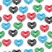 бесшовные с сердечками — Cтоковый вектор