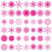 векторная коллекция с различные абстрактные цветочные элементы — Cтоковый вектор