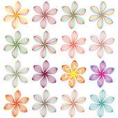 Collection de vector avec différents éléments floraux abstraits — Stock vektor