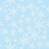 Snowflake seamless — Stock Vector