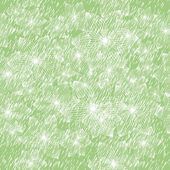 Delicate green background with flowers — Vector de stock