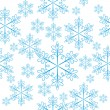Stock Vector: Seamless with snowflakes