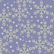 Winter seamless with abstract snowflakes — ベクター素材ストック