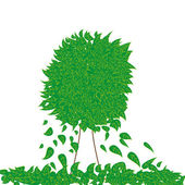 Abstract vector green tree — Stock Vector