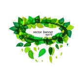 Green vector banner eps 10 — Stock Vector