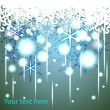 Abstract frame with snowflakes — Stock Vector