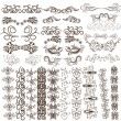 Collection of vector design elements. blanks for your creations — Stock Vector