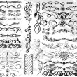 Collection of vector design elements. blanks for your creations — Vettoriali Stock
