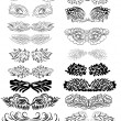 Set of abstract vector wings — Vettoriali Stock