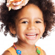 Beautiful happy little girl — Stock Photo
