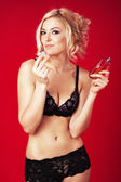 Sexy woman with perfume — Stock Photo