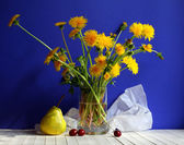 Still life with dandelions — Stock Photo