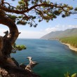 Landscape at the Baikal lake in Siberia. - Stock Photo