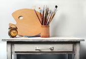 Still-life in studio of the artist — Stock Photo