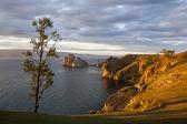 Morning on the lake Baikal — 图库照片