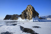 Winter lake Baikal — Stock Photo