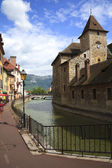 Ancient houses on the channel - Annecy, France — Stock Photo