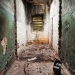 Inside an abandoned building - Foto Stock