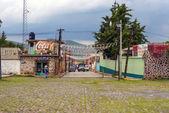 Gata nära kyrkan och klostret i oxtotipac, mexiko — Stockfoto