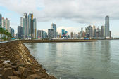 Panama city downtown skyline — Stock Photo