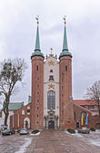 Cathedral in Gdansk Oliwa Poland — Stock Photo