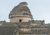 An ancient observatory in Chichen Itza Mayan city, Mexico — Stock Photo