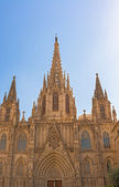Barcelona cathedral facade — Stock Photo