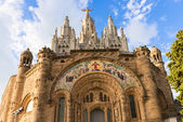 Church of the Sacred Heart, Tibidabo, Barcelona — Stock Photo