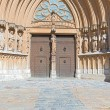 Stock Photo: Portal of TarragonCathedral Spain