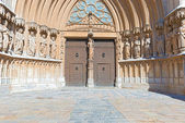 Portal of Tarragona Cathedral Spain — Stock Photo