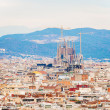 City of Barcelona aerial view — Stock Photo