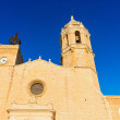 Church of Sant Bartomeu & Santa Tecla in Sitges, Spain — Stock Photo