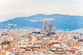 City of Barcelona aerial view — Stockfoto
