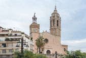 Church of Sant Bartomeu & Santa Tecla in Sitges, Spain — Foto de Stock