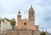 Church of Sant Bartomeu & Santa Tecla in Sitges, Spain — Stock Photo