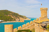 View of Tossa de Mar village from ancient castle, Costa Brava, S — Stock Photo
