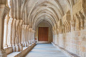 Poblet Monastery near Barcelona in Catalonia, Spain — Foto Stock