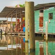 Stock Photo: Houses on water in Almirante, Panama