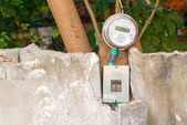 Electric meter on the wall — Stock Photo