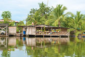 Houses on the water in Almirante, Panama — Stock Photo
