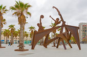 Olympic sulpture Barcelona, Spain — Stock Photo