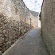 Narrow street in Medieval town of Carcassonne in France. — Stock Photo