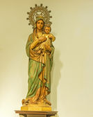 Calella, Spain Maria and Jesus statues — Foto Stock